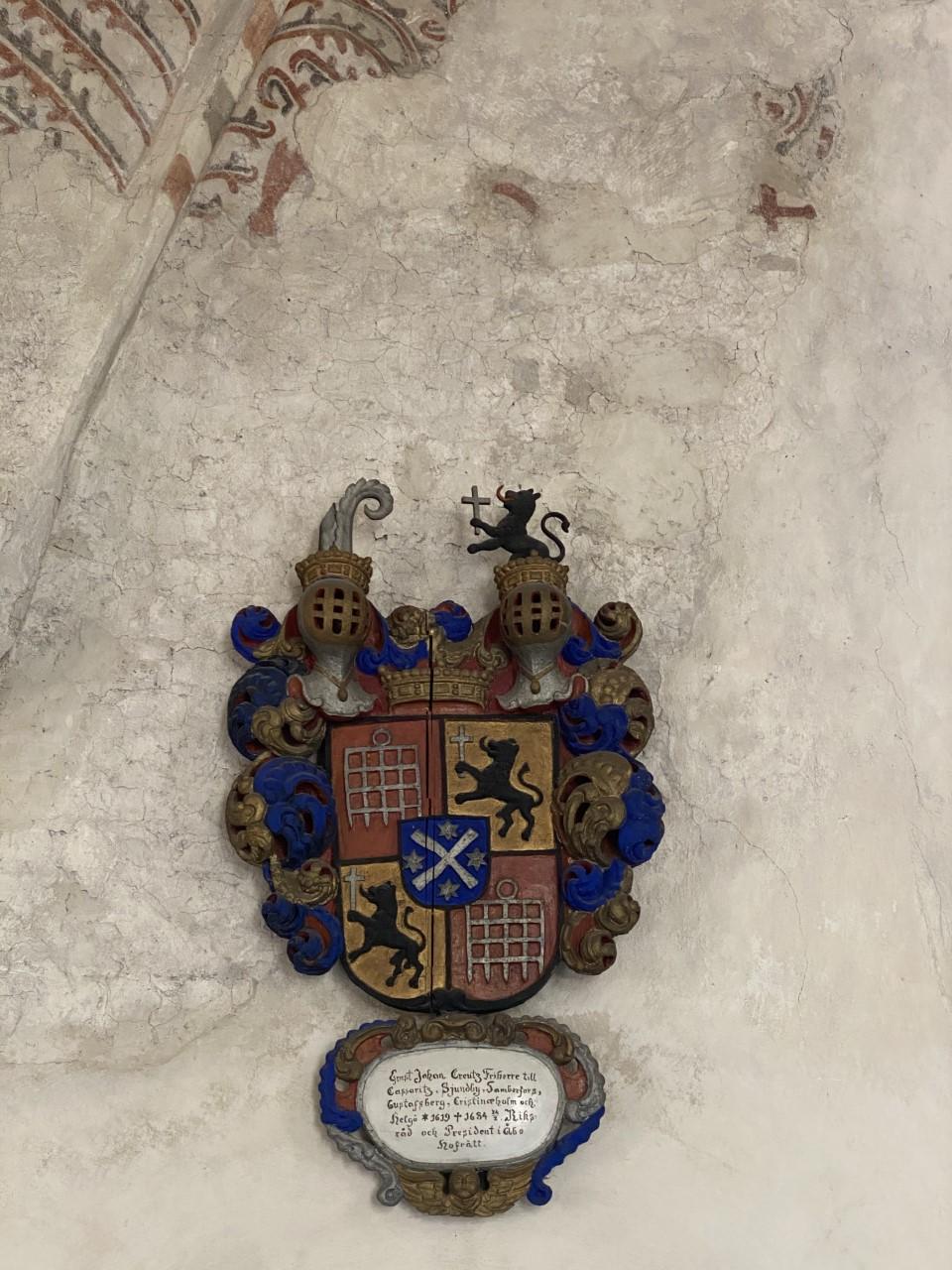 Coat of arms of Ernst Johan Creutz